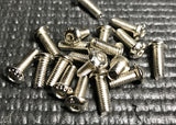 RTW RACING GRADE-12.9 BUTTON HEAD STEEL SCREWS M4(WHITE NICKEL PLATED) (10pcs)