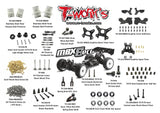 (BACKORDER)T-WORKS Graphite Fuel Tank Guard For Mugen MBX8 #TO-255-MBX8