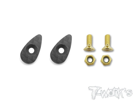 T-WORKS Graphite Wing Washer ( 2pcs. ) For 1/10 Touring Car #TA-119