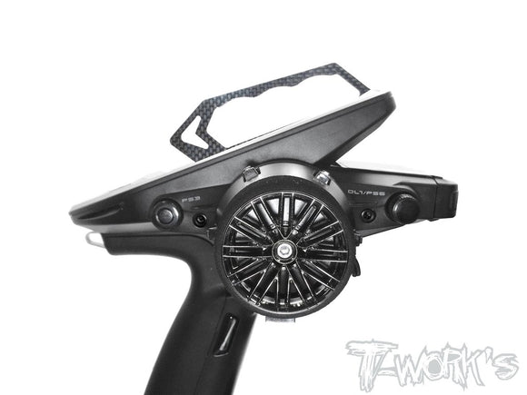 T-WORKS Graphite Carrying Handle ( For Futaba 7PX / 4PM ) #TA-120-G