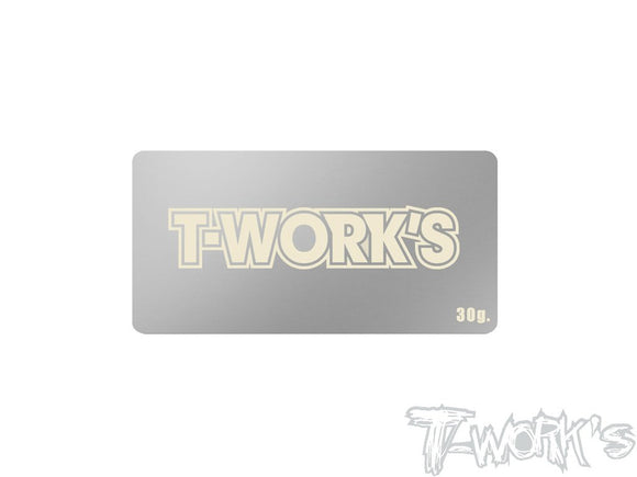 T-WORKS BATTERY WEIGHT 30GRAM (43mm*92mm) #TA-135-B