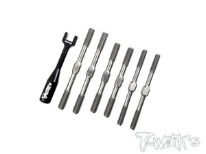 T-WORKS Grade-64 Titanium Turnbuckle Set ( For HB Racing D817 D817 V2/D819 ) #TB-139