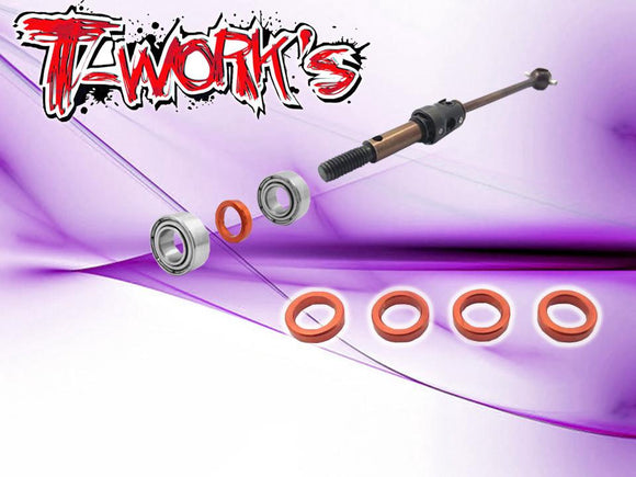 T-WORKS Driveshaft Bearing Spacer(For Xray T4/T4'15/T4'16/T4'17/T4'18/T4'19/T4'20/T4F) #TE-119