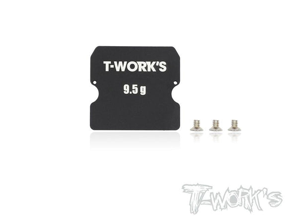 T-WORKS Aluminum Chassis Weight 9.5g ( For Team Associated RC10 B6/B6D ) #TE-149-A