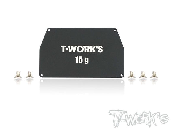 T-WORKS Aluminum Chassis Weight 15g ( For Team Associated RC10 B6/B6D ) #TE-149-B