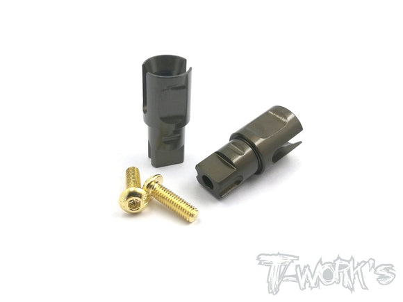 T-WORKS 7075-T6 Hard Coated Alum. Front Spool Cups For Xray T4/Spec-R/CSO /Team C ) #TE-163-X