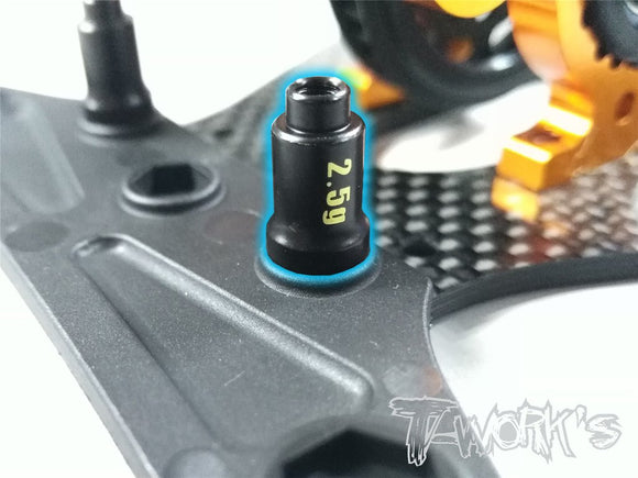 T-WORKS Brass Bumper Post ( For Xray T4'17/18/T4'19/T4'20 ) 2pcs. Each 2.5g #TE-181