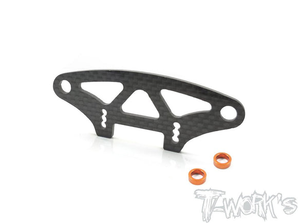 T-WORKS Graphite Upper Holder For Bumper ( For Xray T4'19/T4'20) #TE-203-T419