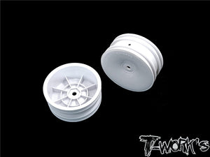 "T-WORKS 2.2"" 12mm Hex Front Wheels For 1/10 2WD (B6.1/6.2/RB5/RB6/RB7/YZ2/XB2 ) TE-218-A"