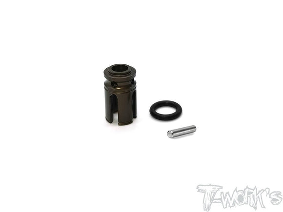 T-WORKS 7075-T6 Hard Coated Alum. Center Cup ( For Tamiya TC-01 ) #TE-TC01-N