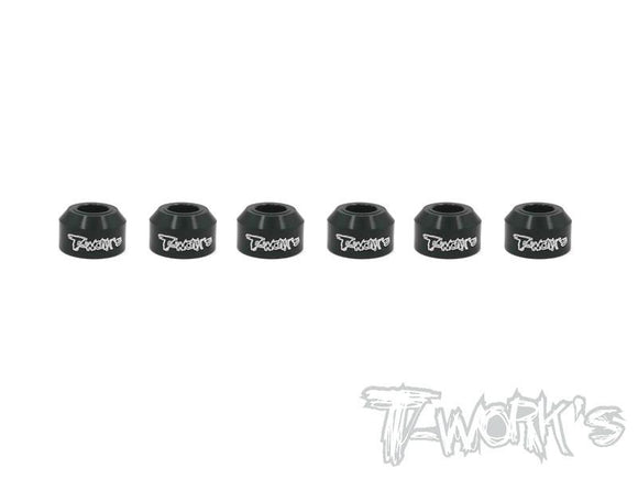 T-WORKS Aluminum Drive Shaft Safety Collar 6pcs. ( For Xray XB4 ) #TO-162