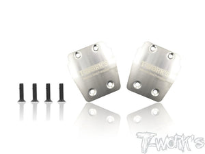 T-WORKS Stainless Steel Rear Chassis Skid Plates for AGAMA A319 (2pcs) #TO-220-A319