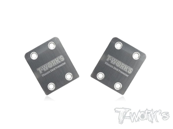 T-WORKS Stainless Steel Rear Chassis Skid plates(HB D815/D817/E817/D817 V2/D819 ) 2pcs. #TO-220-HB