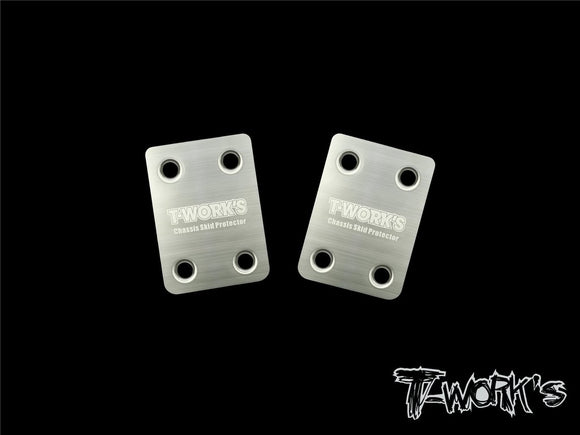 T-WORKS Stainless Steel Rear Chassis Skid Protector Mugen MBX8/8E (2pcs.) #TO-220-MBX8