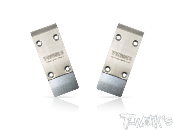 T-WORKS Stainless Steel Front Chassis Skid Protector ( Tekno EB410.2 ) 2pcs. #TO-235-410.2