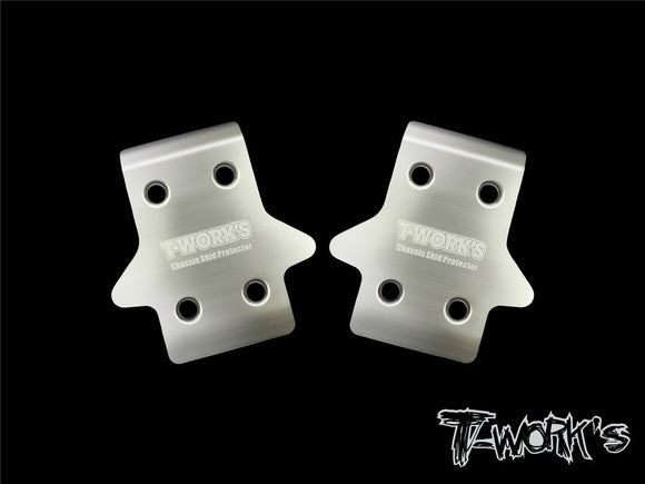 T-WORKS Stainless Steel Front Chassis Skid Protector Mugen MBX8/8E ( 2pcs.) #TO-235-MBX8