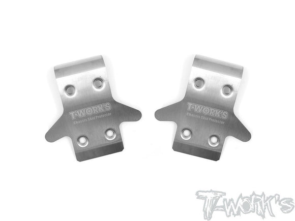 (BACKORDER)T-WORKS Stainless Steel Front Chassis Skid Protector ( Team Associated RC8 B3.1/B3.2 ) 2pcs. #TO-235-RC8