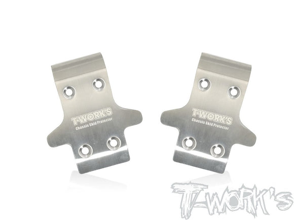 T-WORKS Stainless Steel Front Chassis Skid Protector for Serpent SRX8 EVO (2pcs.) #TO-235-SRX
