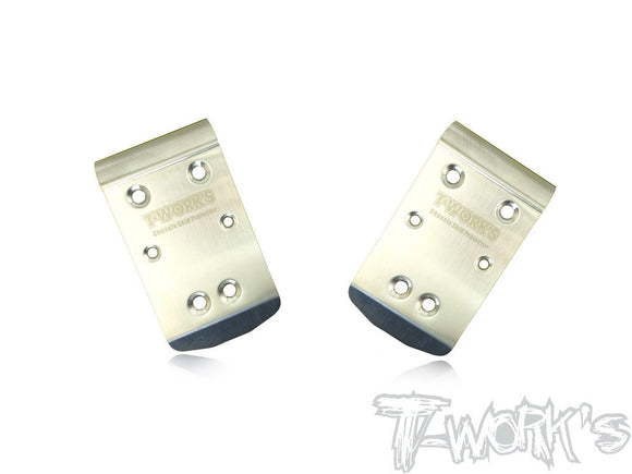 T-WORKS Stainless Steel Front Chassis Skid Protector ( TEKNO NB48 2.0/EB48 2.0) 2pcs. #TO-235-T2.0