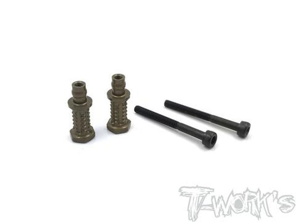 T-WORKS HARD COATED 7075-T6 ALUM. SHOCK STANDOFFS FOR AGAMA A319(+4mm offset)( 4PCS) #TO-240-AG-4