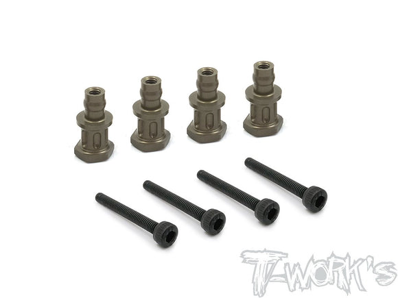 T-WORKS Hard Coated 7075-T6 Alum. Shock Standoffs (For Agama A319) 4pcs.#TO-240-AG