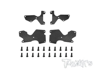 T-WORKS Graphite Suspension Arm Stiffeners Set For Mugen MBX8/MBX8E #TO-246-MBX8