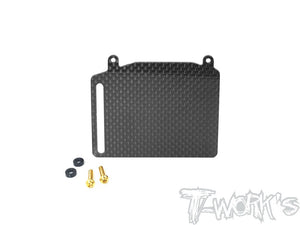 T-WORKS Graphite Fuel Tank Guard ( For Team Associated RC8 T3.1 ) #TO-255-RC8T
