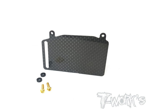 (Backorder)T-WORKS Graphite Fuel Tank Guard ( For Team Associated RC8 B3.1 ) #TO-255-RC8