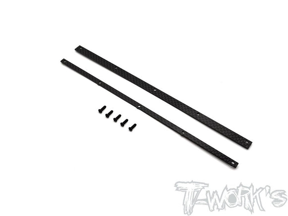 T-WORKS Graphite Wickerbill set for T-Works 1/8 Offroad wing #TO-309-TW