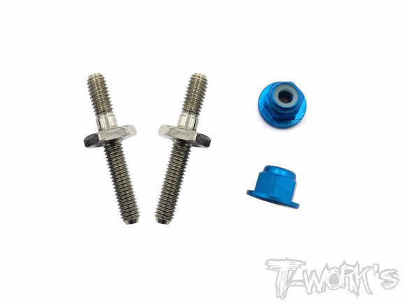 T-WORKS 64 Titanium Battery Post With Alum.Lock nuts ( Team Associated RC10 B6/B6D/B6.1/T6.1 ) #TP-054
