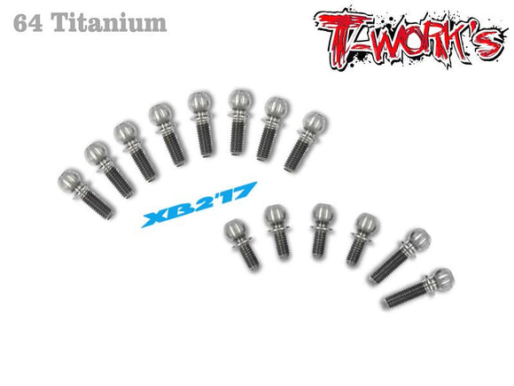 T-WORKS 64 Titanium Ball End set ( For Xray XB2C'17/XB2C 2018 ) #TP-056