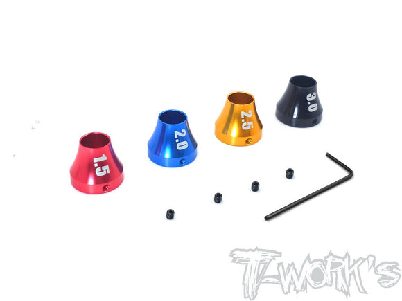 T-WORKS Hex Wrench Collar Set for MIP hex driver (1.5/2.0/2.5/3.0 each one ) #TT-061-B