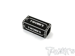 T-WORKS 16/17mm Anti Tweak Block ( For Xray T4 2020) Black #TT-074BK