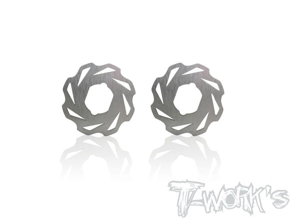 T-WORKS 30mm Light Weight Brake Disc For Mugen MBX/Serpent SBX8/Xray XB8/AE RC8 B3.1/T3.1) 2pcs. #TO-270-MBX