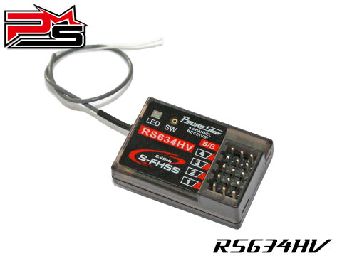 Powerstar S-FHSS Compatible 4-Channels Receiver For Futaba Transmitters#RS-634HV