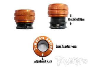 T-WORKS Aluminium Body Post Adjuster for 1/10 Onroad car(4pcs) #TE-110