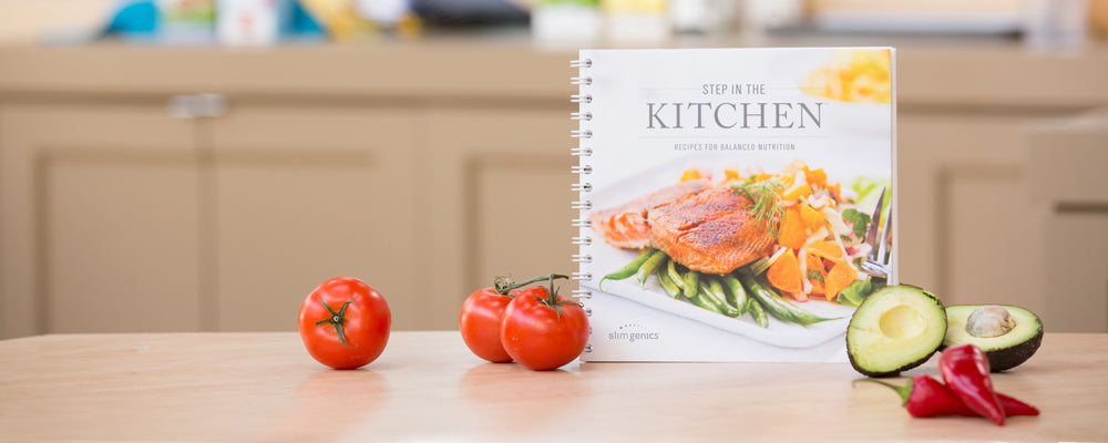 STEP in the Kitchen Cookbook with On-Plan SlimGenics Approved Recipes
