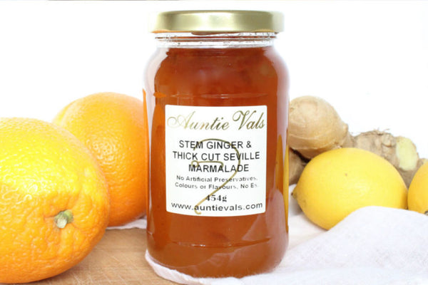 Marmalade, Stem Ginger and thick cut Seville