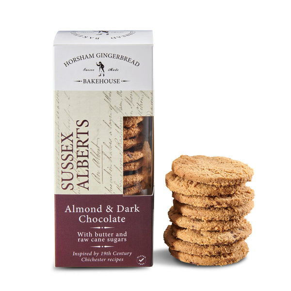 Sussex Alberts, Almond & Dark Chocolate Oat Biscuits