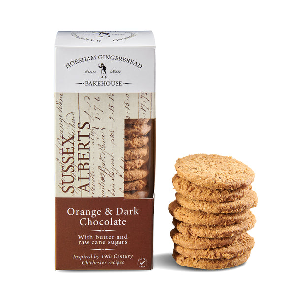 Sussex Alberts, Orange & Dark Chocolate Biscuits
