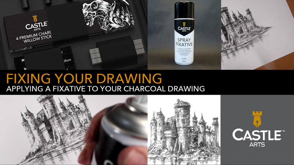 How To Apply A Fixative To Your Charcoal Drawing