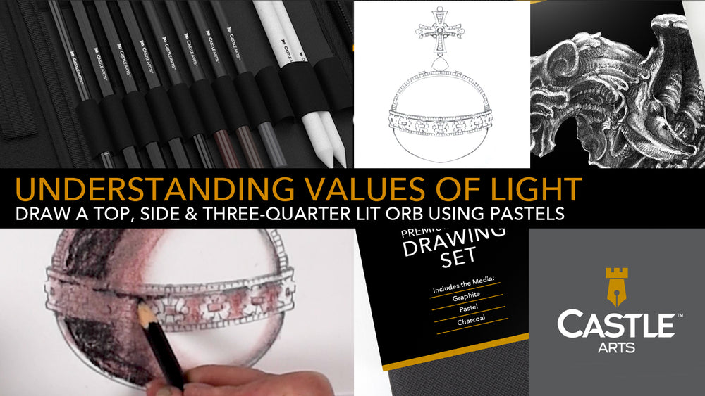 How to Draw | Shading Light & Shadow with Pastels