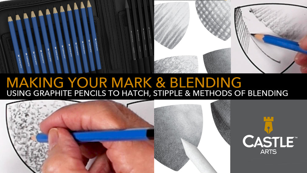 How to Draw | Using Graphite Pencils to Hatch, Stipple & Blend