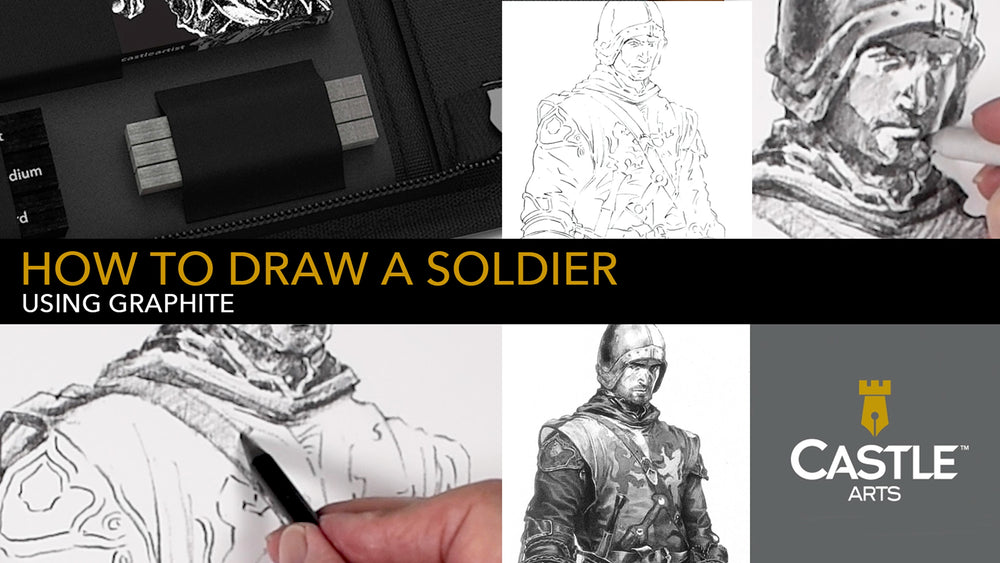 How to Draw a Soldier Using Graphite
