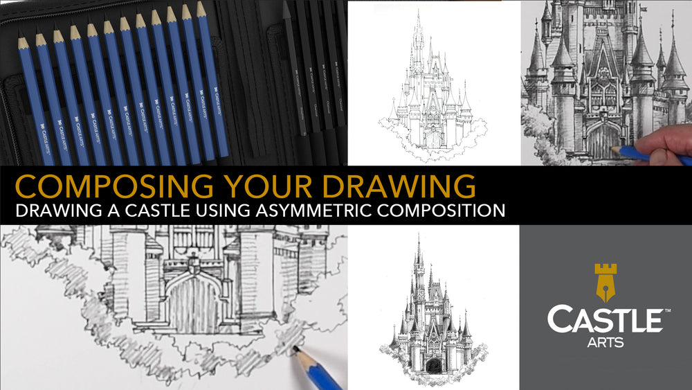 How to Draw | Asymmetric Composition with Graphite Pencils