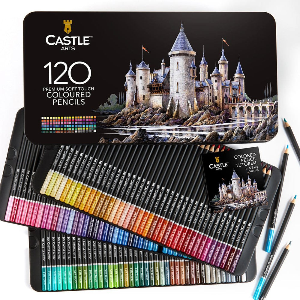 120 Piece Coloured Pencil Set in Display Tin