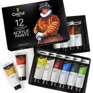 12 Piece Big Tube Acrylic Paint Set