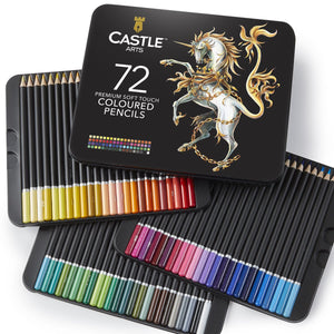72 Piece Coloured Pencil Set in Display Tin