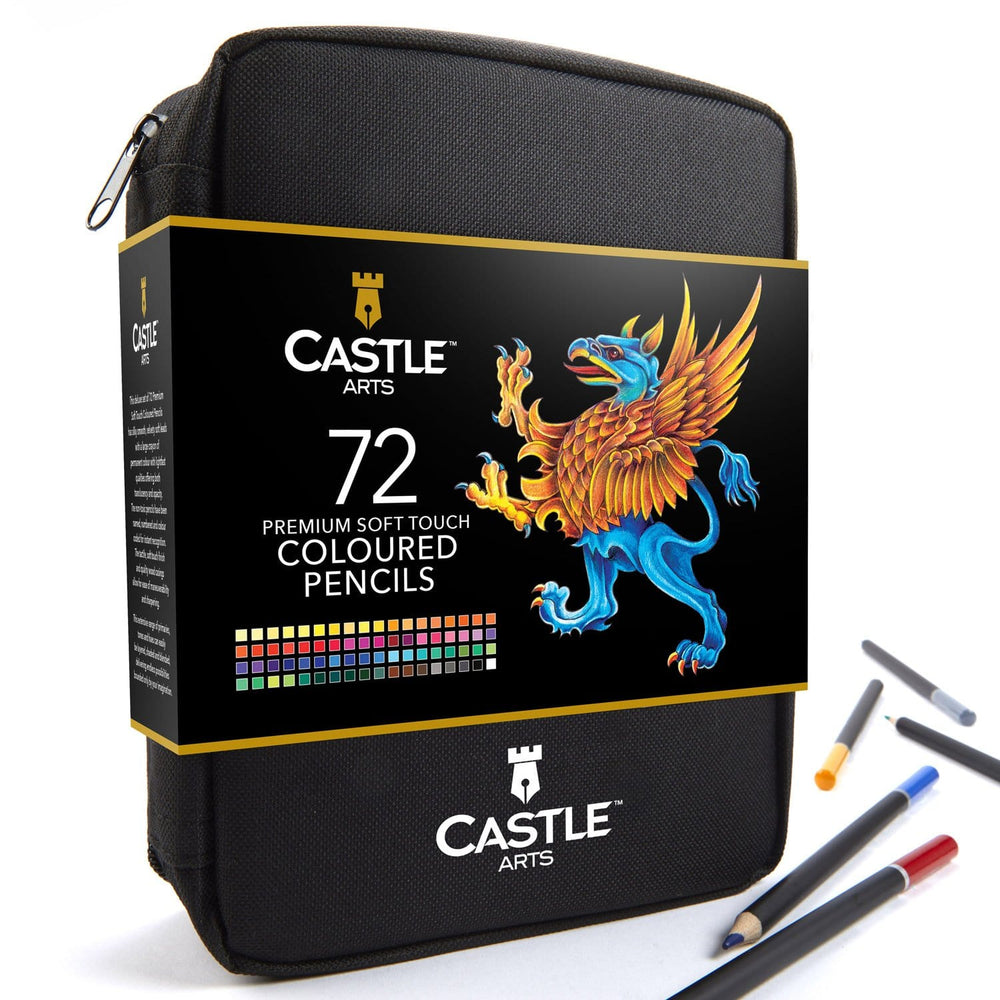 Load image into Gallery viewer, 72 Piece Coloured Pencil Set in Zip Up Case