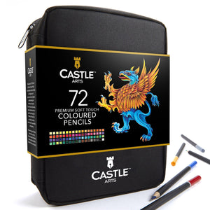 72 Piece Coloured Pencil Set in Zip Up Case